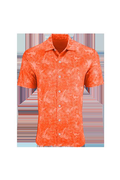 c90da908 Polos Men's Button-front Performance Shirt with Tonal Print Vansport™ Pro