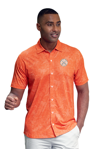 09be9ad4f Polos|Men's Button-front Performance Shirt with Tonal Print|Vansport™ Pro
