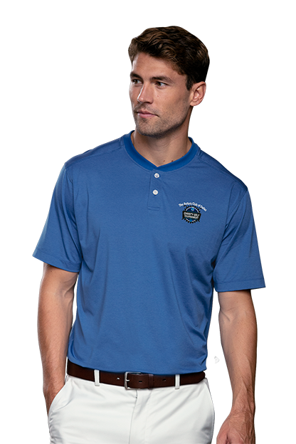 c586a7a7 Polos | Men's Moisture-Wicking Collarless Golf Shirt | Vansport