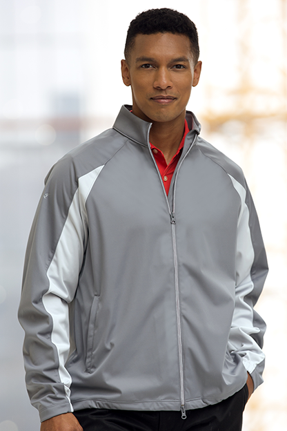 Greg Norman Full-Zip Pieced Weatherknit Jacket