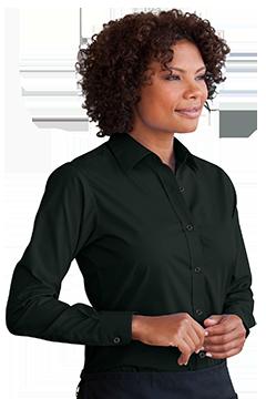 1101_Women's Blended Poplin Shirt-Vantage