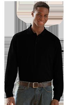 2102_Long Sleeve Soft-Blend Double-Tuck Pique Polo-Vantage