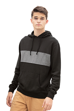 3283_Premium Cotton Blocked Fleece Pullover Hoodie-Vantage