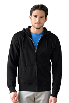 3289_Premium Lightweight Fleece Full-Zip Hoodie-Vantage
