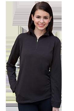 3406_Women's Vansport Mesh 1/4-Zip Tech Pullover-Vansport