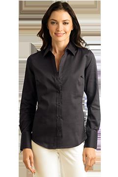 CALV0030_Women's Calvin Klein Non-Iron Dobby Shirt-Calvin Klein
