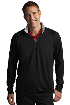 GNS2K997_Play Dry� Zip Performance Mock-Greg Norman