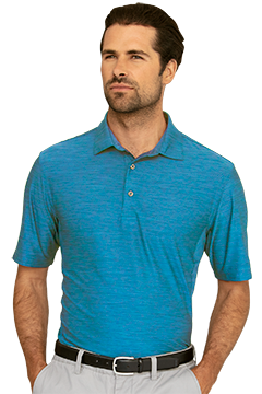 GNS9K477_Greg Norman Play Dry� Heather Solid Polo-