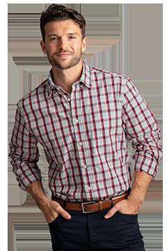 HILF1860_Tommy Hilfiger Baron Plaid Button-Down Shirt-