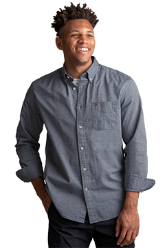 HILF1861_Tommy Hilfiger Chambray Button-Down Shirt-Tommy Hilfiger