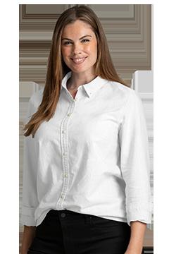 HILF4378_Women's Tommy Hilfiger New England Oxford Shirt-Tommy Hilfiger