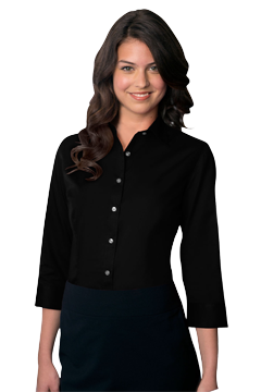 VANH0527_Van Heusen Women's Easy-Care Dress Twill Shirt-Van Heusen