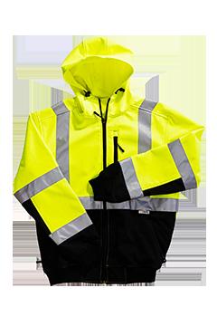 XVSJ24795B_Xtreme-Flex Soft Shell Hoodie Jacket-Xtreme Visibility