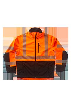 XVSJ25340B_Xtreme-Flex Soft Shell No Hood Jacket-Xtreme Visibility