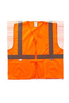XVSV3310SZ_Xtreme Visibility Value Class 2 Zip�Solid Vest-