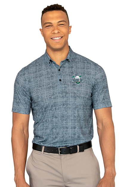 59f9a384 An allover tonal palm print is an understated way to bring the floral print  trend to corporate casual clothing.